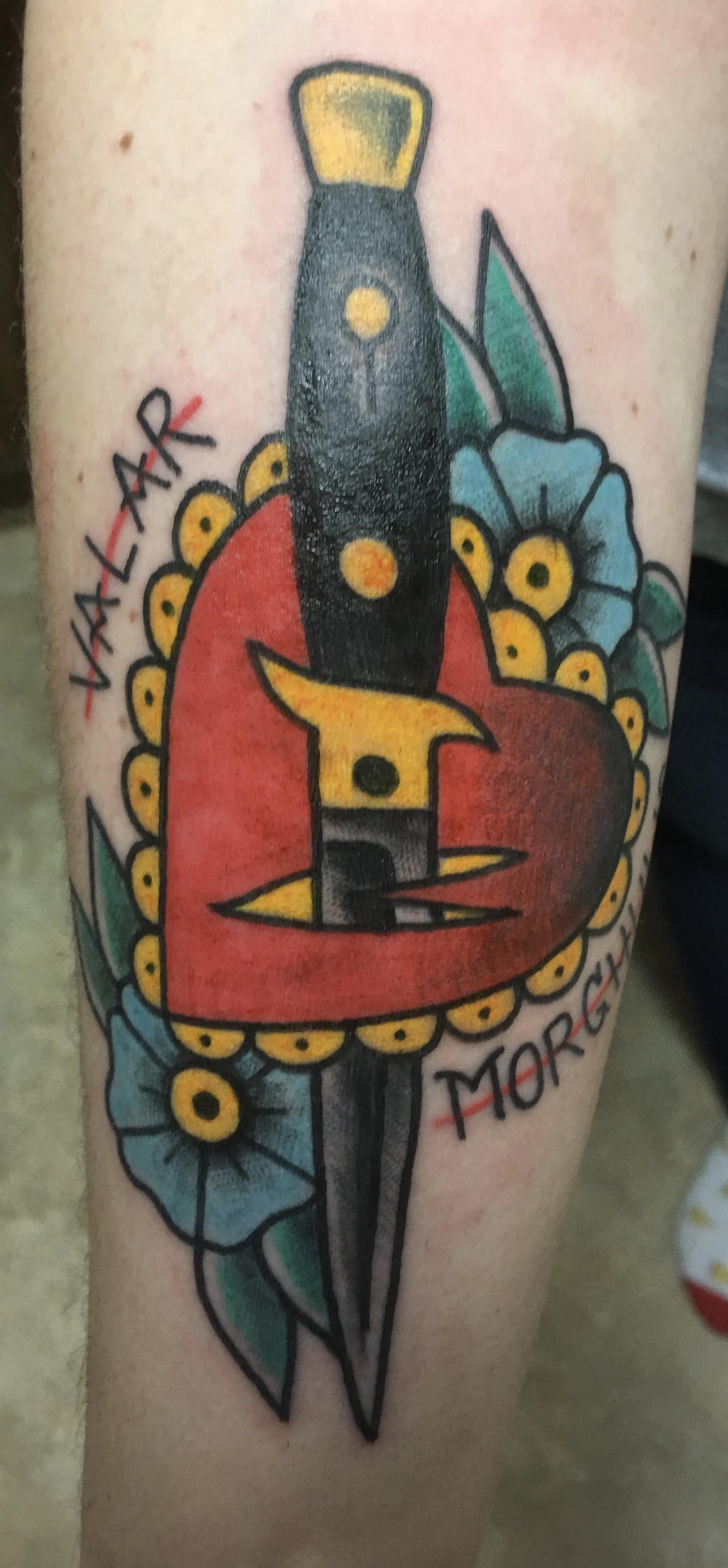 Liquid Metal Tattoo : liquid, metal, tattoo, Valar, Morghulis, Second, Tattoo, Jackie, Spillane, Liquid, Metal, Point, Tattoo,, Tattoos,, Geometric