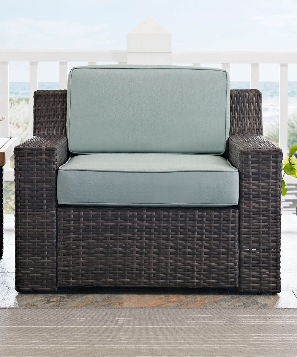Dark Brown & Mist Beaufort Arm Chair