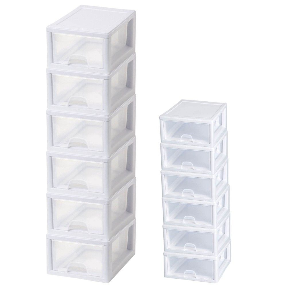 Sterilite 16 Qt Clear Stacking Storage Drawer Container 6 Pack 6 Qt 6 Pack Plastic Storage Drawers Storage Drawers Custom Storage Solutions