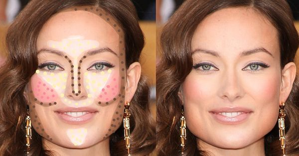 Highlighting and contouring guide for your face shape! It really makes a difference! | makeup | Pinterest | Contouring, Face Shapes and Faces