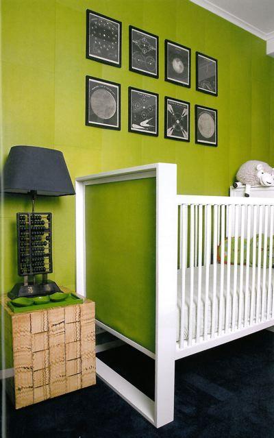 lime green black white baby room modern sky nursery rh pinterest ch