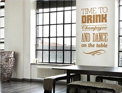 Wandsticker Wohnzimmer | I Love Wandtattoo 11855 Wandtattoo Spruch Time To Drink Champagne