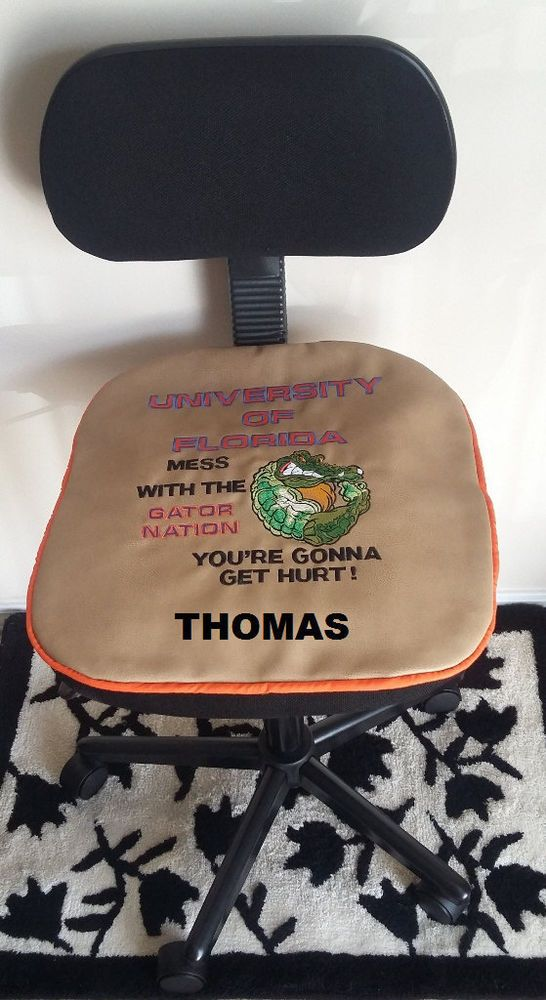 University Of Florida Gators Football Office Chair Seat Pad Personalized