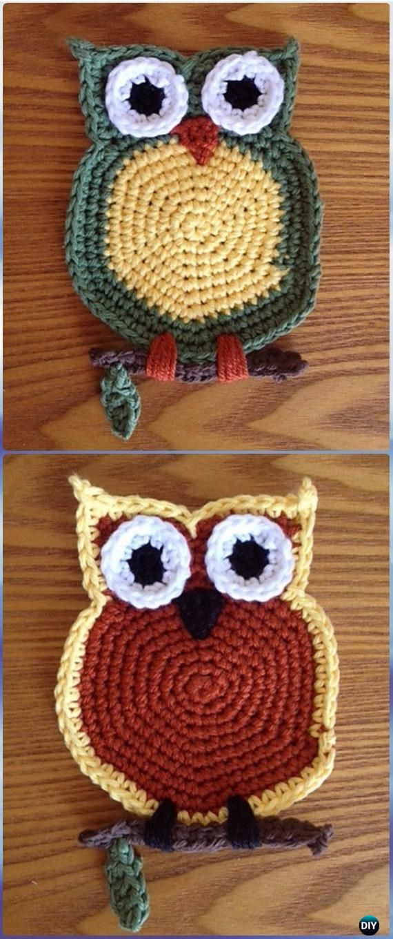 e1be455e2 Crochet Owl Coaster Free Pattern-Crochet Owl Ideas Free Patterns