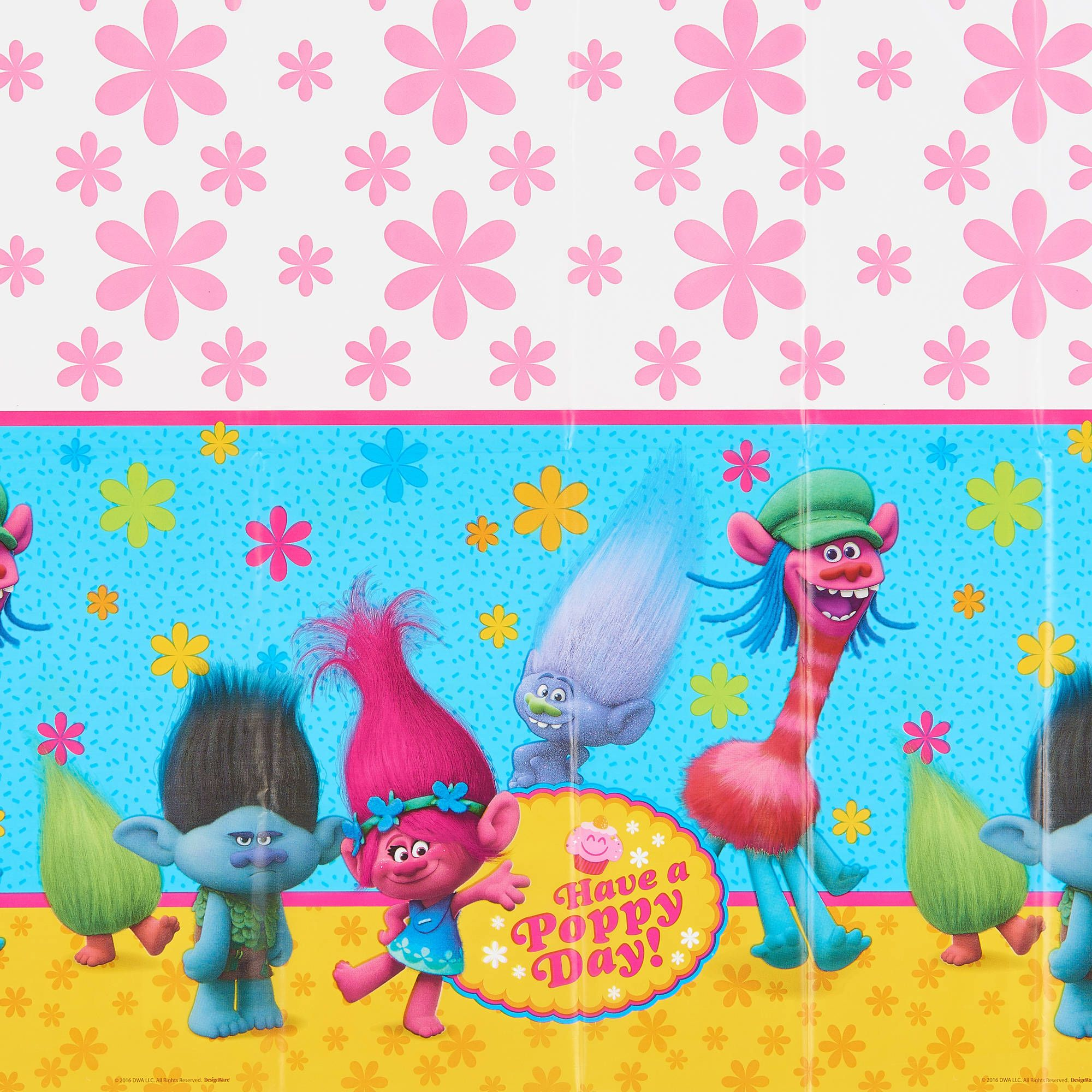 TROLLS PLASTIC PARTY TABLE COVER DREAMWORKS NEW GIFT
