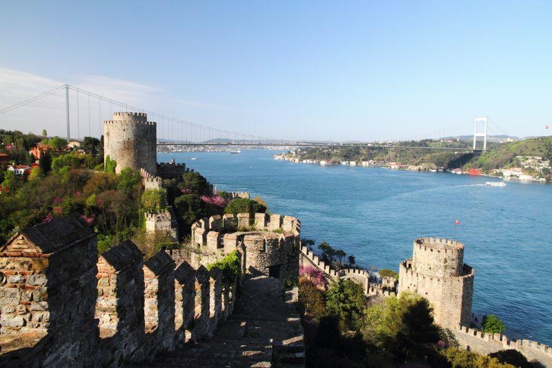 Bosphorus views from Rumeli Fortress  Istanbul, Turkey