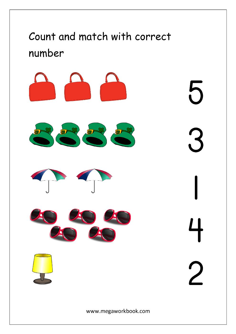 Free Math Worksheets Number Matching Megaworkbook Basic Math Worksheets Free Math Worksheets Learning Worksheets