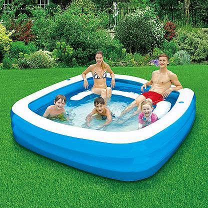 Clearwater 90 X 22 Square Family Pool With Seats Kiddie Pool