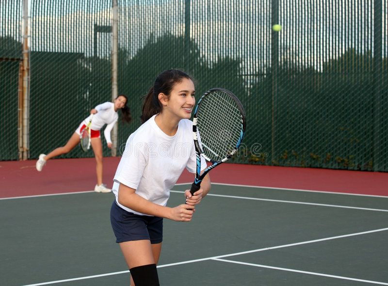 Girls Playing Tennis Two Girls Playing Tennis Doubles Sponsored Playing Girls Tennis Doubles Girls Ad Tennis Drills Tennis Doubles Tennis