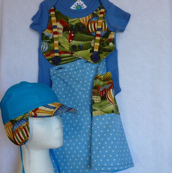 NOW ON SALE FOR ONLY $50 SET Toddlers 1930s Retro Or Bavarian Onsie by EraOfMakeBelieve, $65.00
