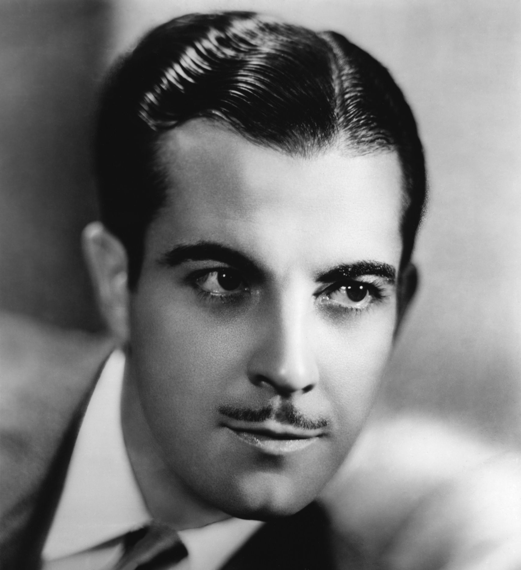 """Ramón Novarro (1899–1968) was a Mexican-American actor who began his career as a leading man in silent films in 1917, & was promoted by MGM as a """"Latin lover"""". He was troubled all his life by his conflicted feelings toward his Catholicism & his homosexuality. His life-long struggle with alcoholism is often traced to these issues. Novarro was murdered by brothers Paul & Tom Ferguson, aged 22 & 17, whom he had hired from an agency to come to his Laurel Canyon home for sex."""