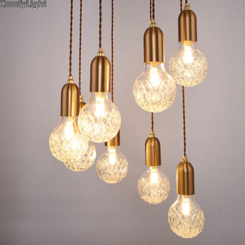 Goedkope Minimalisme Glas Hanglamp Lamphouder Home Decor Hanglamp