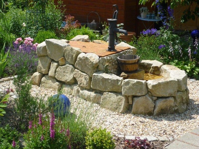 Bildergalerie Garten - Funkelgrün - die kleine Kreativwerkstat - brunnen garten stein