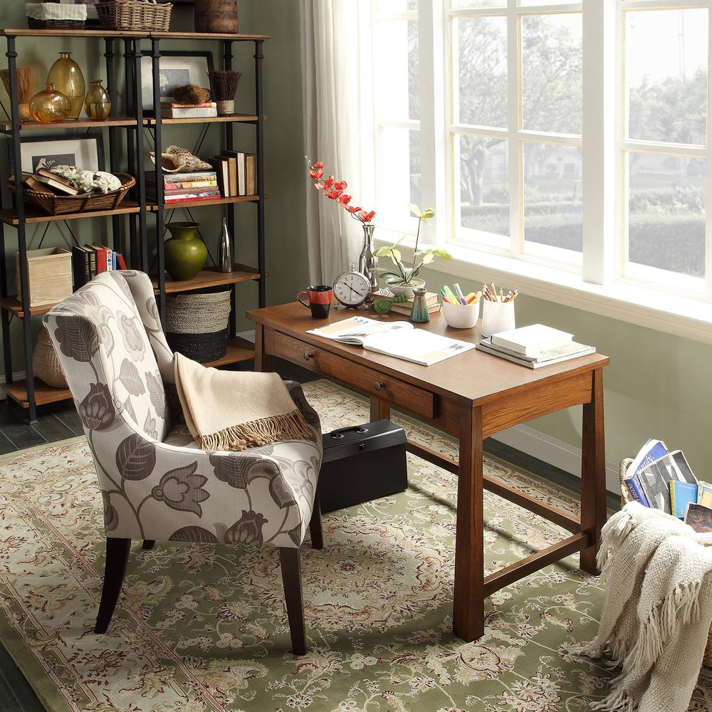 Create your perfect home office with beginning with this stunningly warm  writing desk.