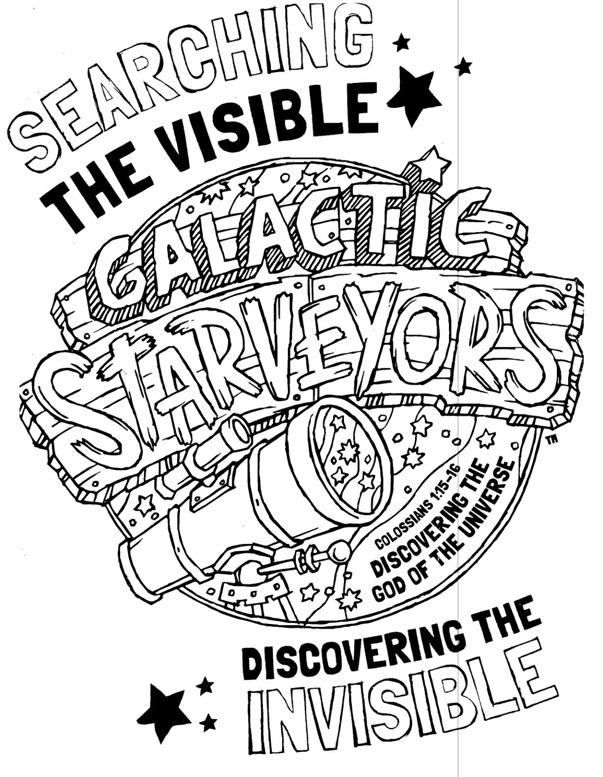 Galactic Starveyors Coloring Sheet For Vbs