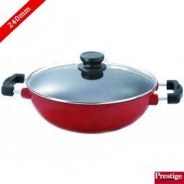Prestige Omega Die Cast Non Stick Kadai 240 Mm With Lid The Prestige Buy Kitchen Kitchen Items