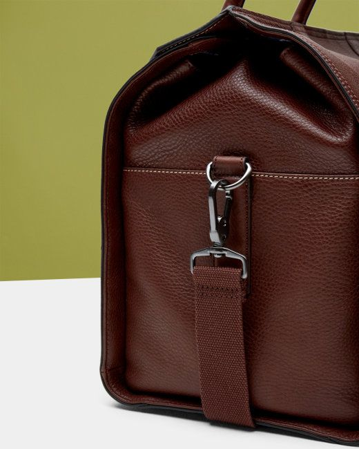 Pebble grain leather holdall - Dark Tan  637864671fa23