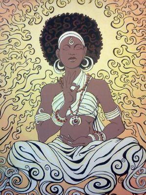 Diary of a Celibate Buddhist Nun | Female art, Black women art, Afro art