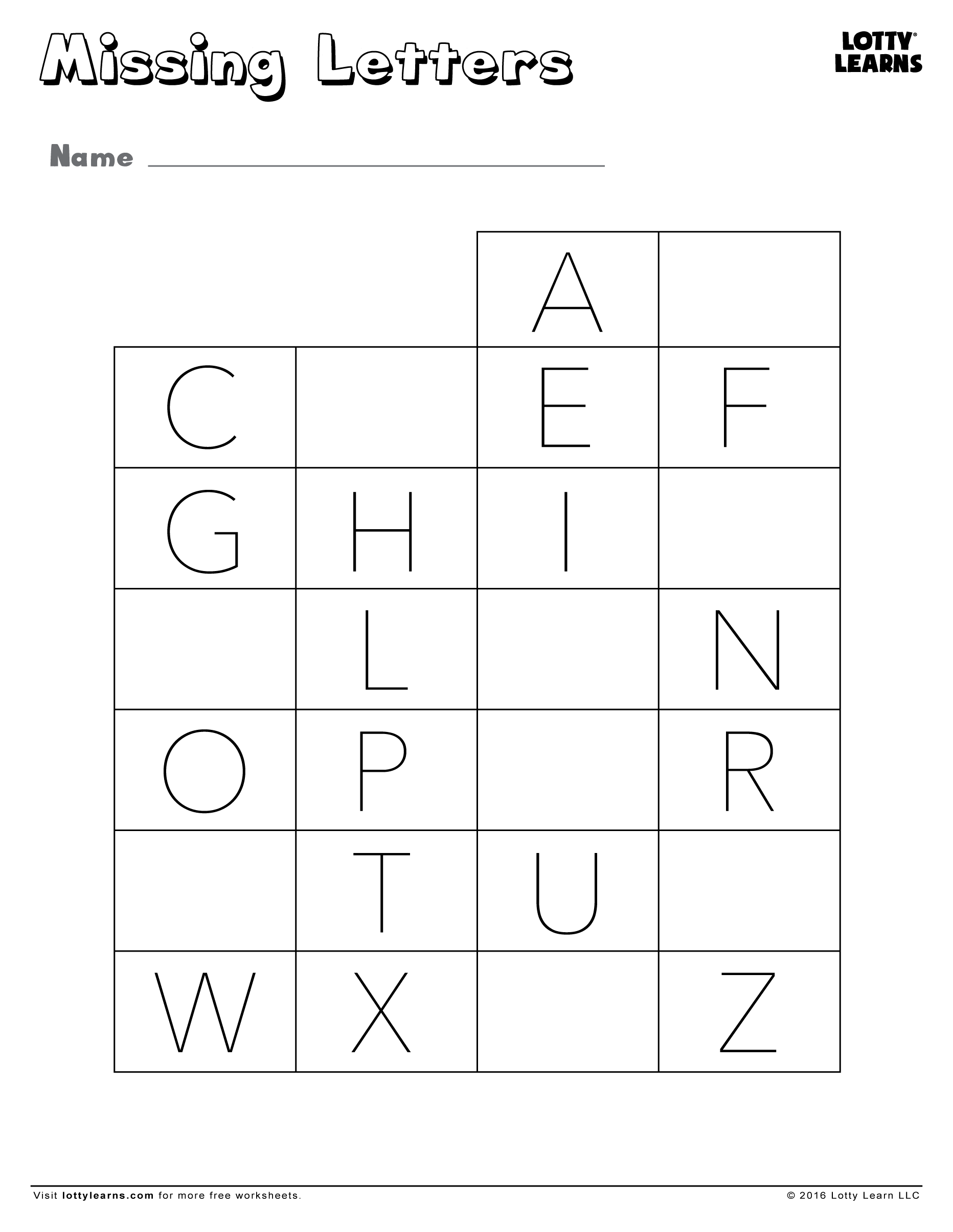 Missing Capital Letters