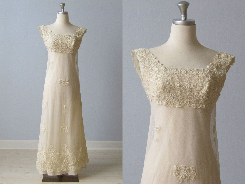 1960s Wedding Dress / 60s Bridal Gown / Lace Sheath / Blush. $248.00 ...
