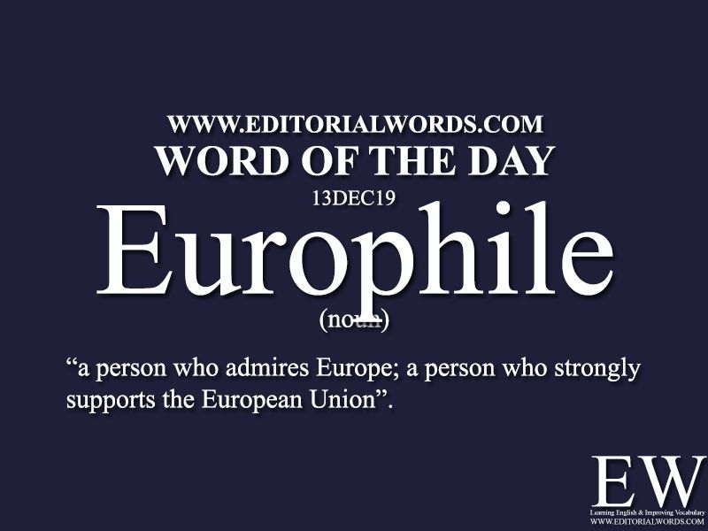Europhile Meaning