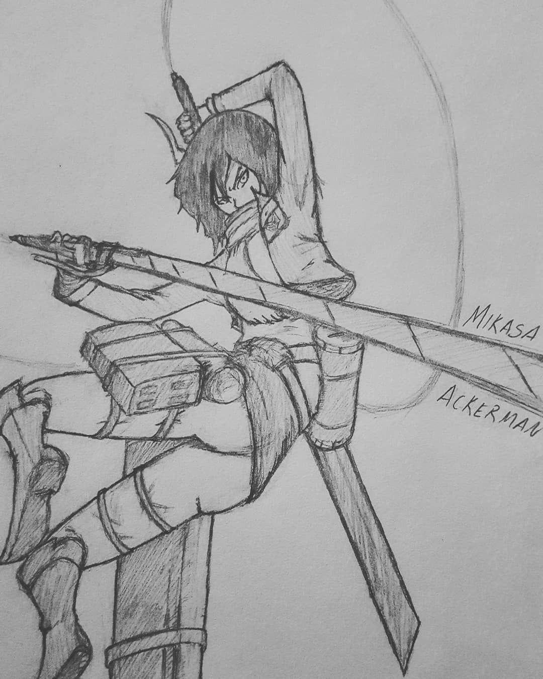 Mikasa Ackerman Yo this was a VERY tough sketch but I