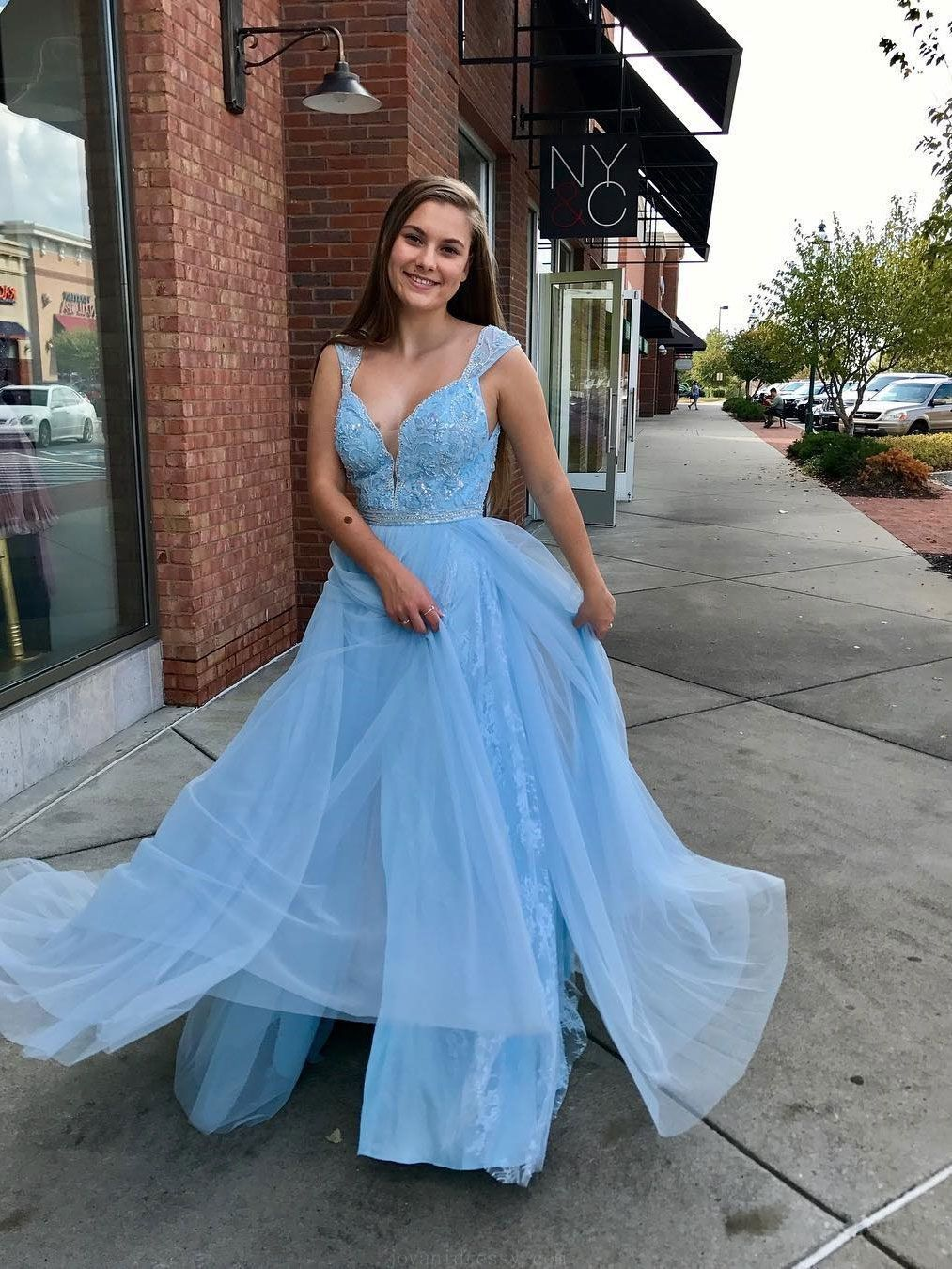 Beautiful Prom Dresses 2019, Lace Prom Dresses, Plus Size Prom ...