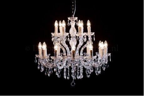 Kroonluchter Maria Theresa 12+6 lichts (chroom)