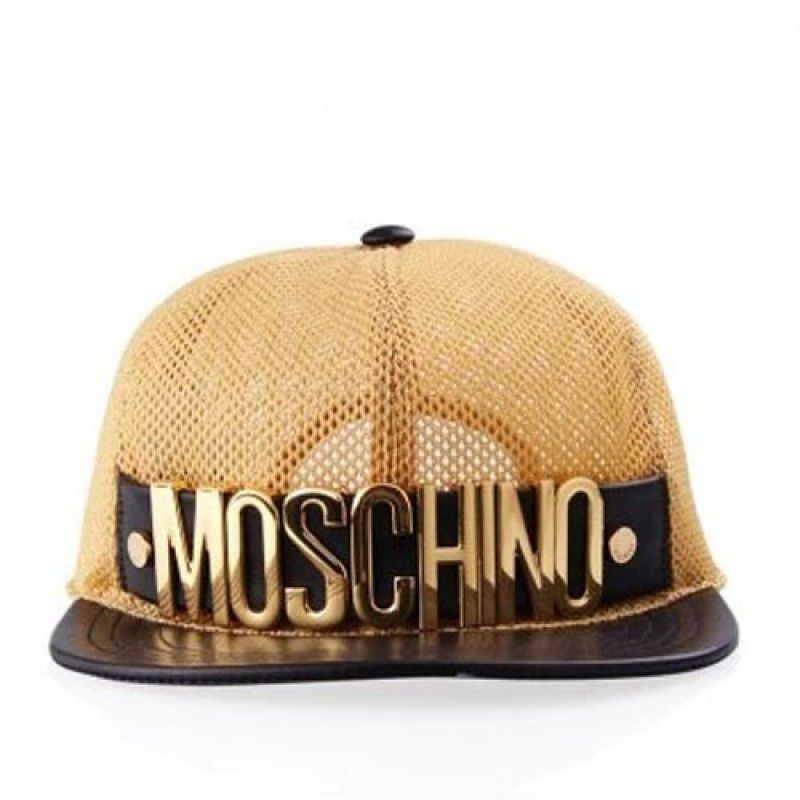 533b9ed2f96f5 Moschino Gold Logo Mesh Baseball Cap Gold