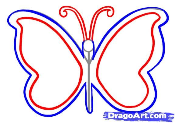 Easy drawing a butterfly google search