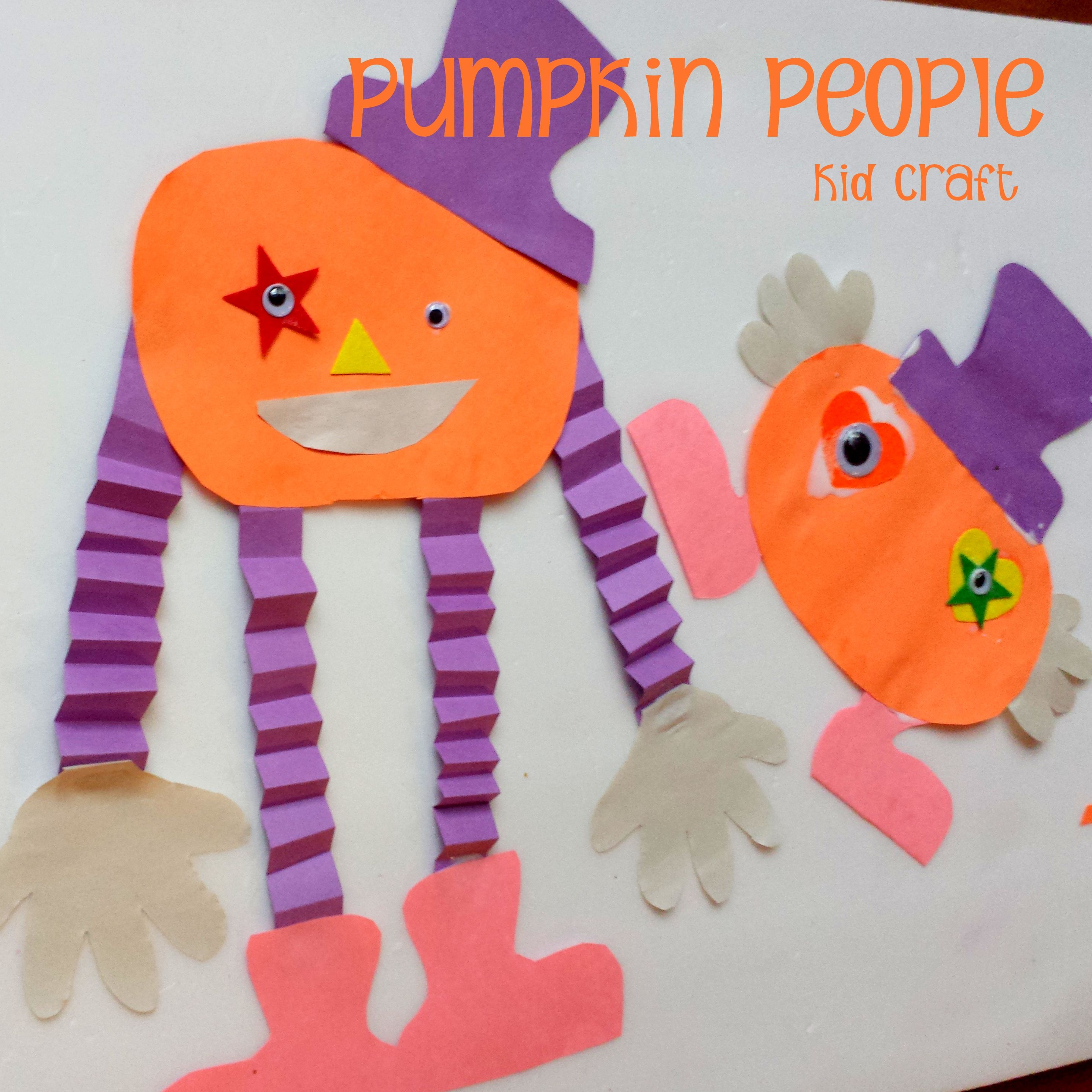 halloween kid craft pumpkin people halloween ideas pinterest