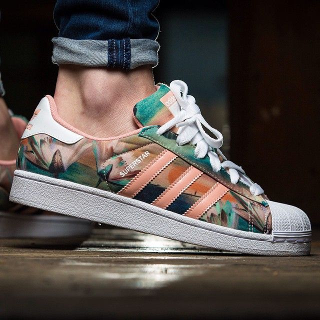 Adidas Superstar W Pink Multicolor Nice Shoes Shoes