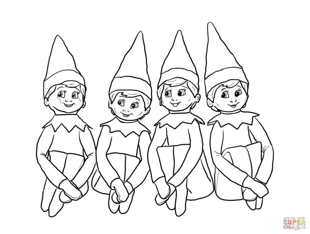Coloring pages foxy elf on the shelf coloring pages for kids elves on the shelf coloring page free printable coloring pages elf on the shelf coloring pages