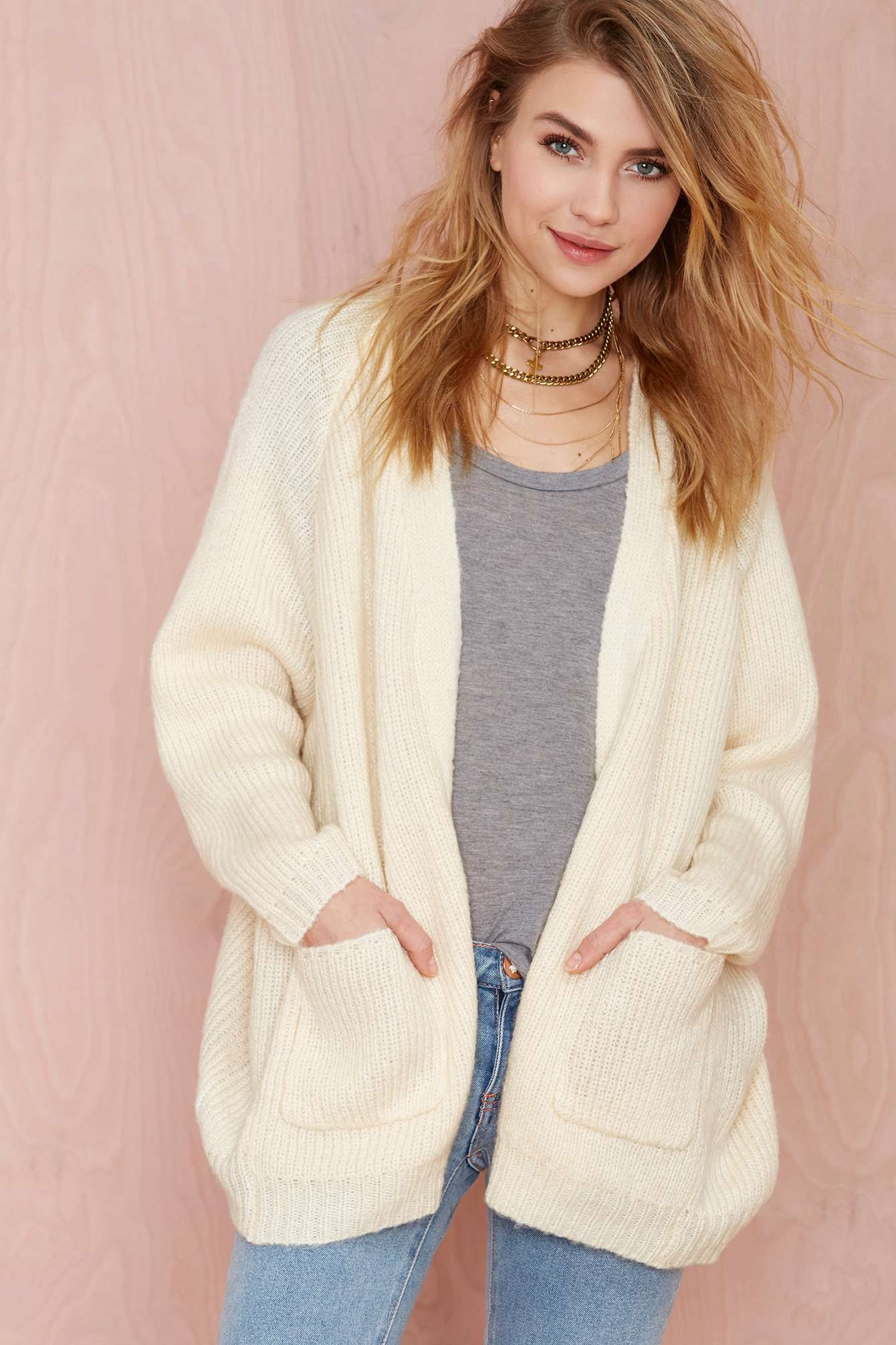 UNIF Hole Wool Cardigan - Ivory | Thanks, It's New | Pinterest ...