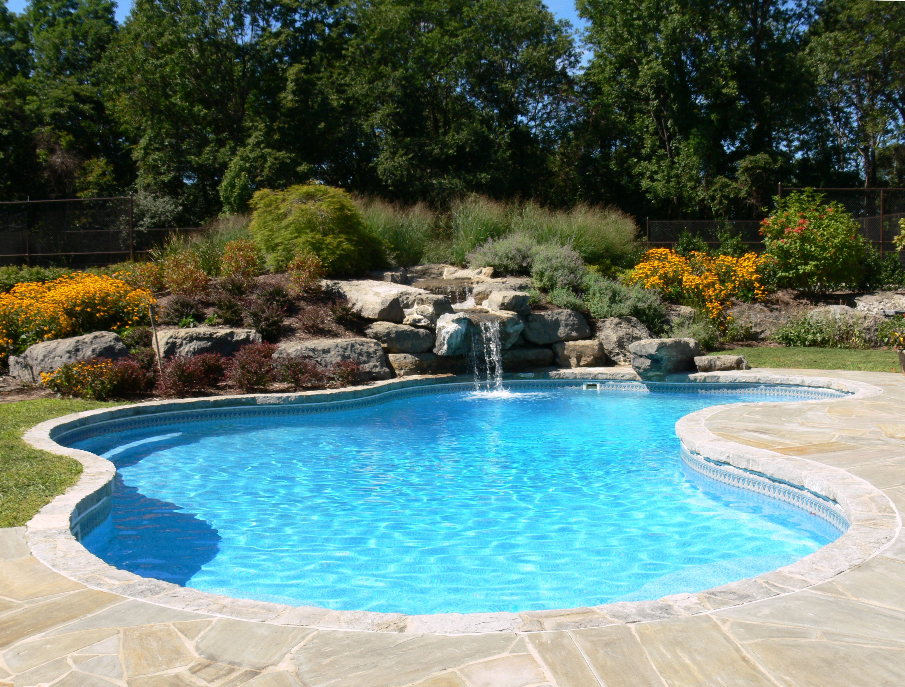 Lagoon pool kits from pool warehouse pool kits for Pictures of backyard pools