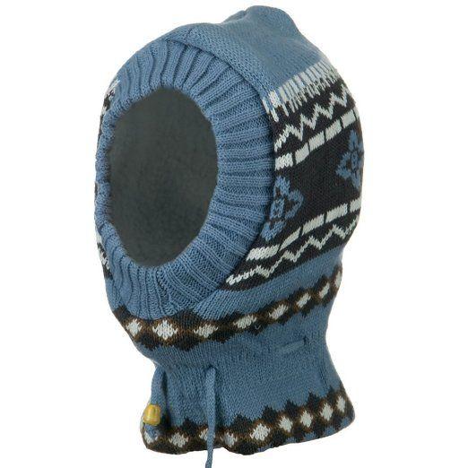 Amazon.com: Children Zigzag Pattern Ski Mask - Light Blue Charcoal W19S18A: Clothing $17