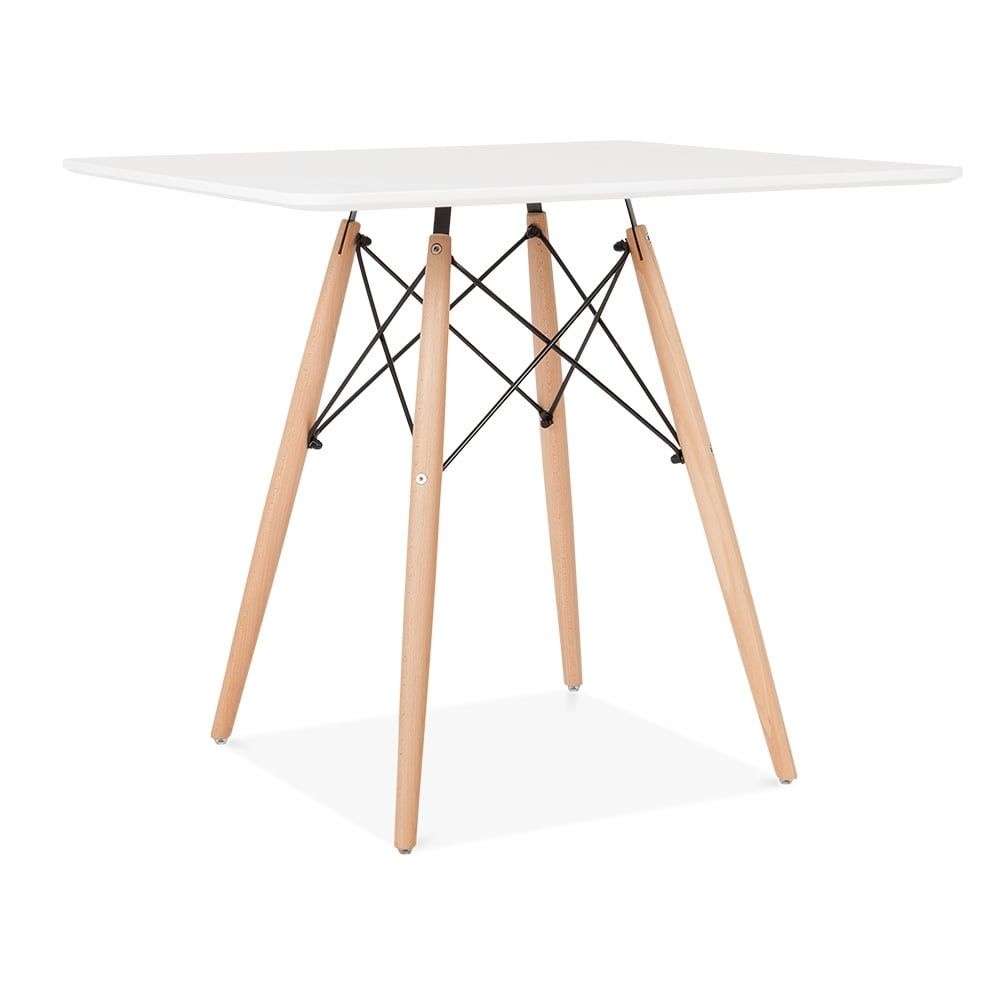 Iconic Designs Dsw Style Square Dining Table White 80cm Square