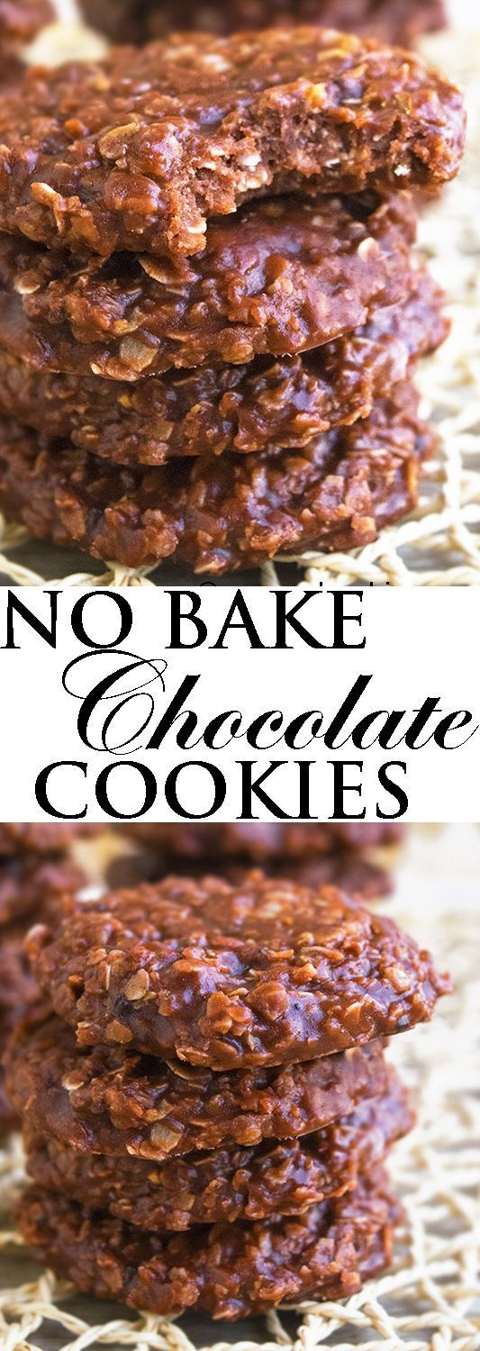 This CLASSIC NO BAKE COOKIES recipe is quick and easy to make with simple ingredients. These old fashioned chocolate no bake cookies are packed with cocoa, peanut butter and oatmeal. From http://cakewhiz.com