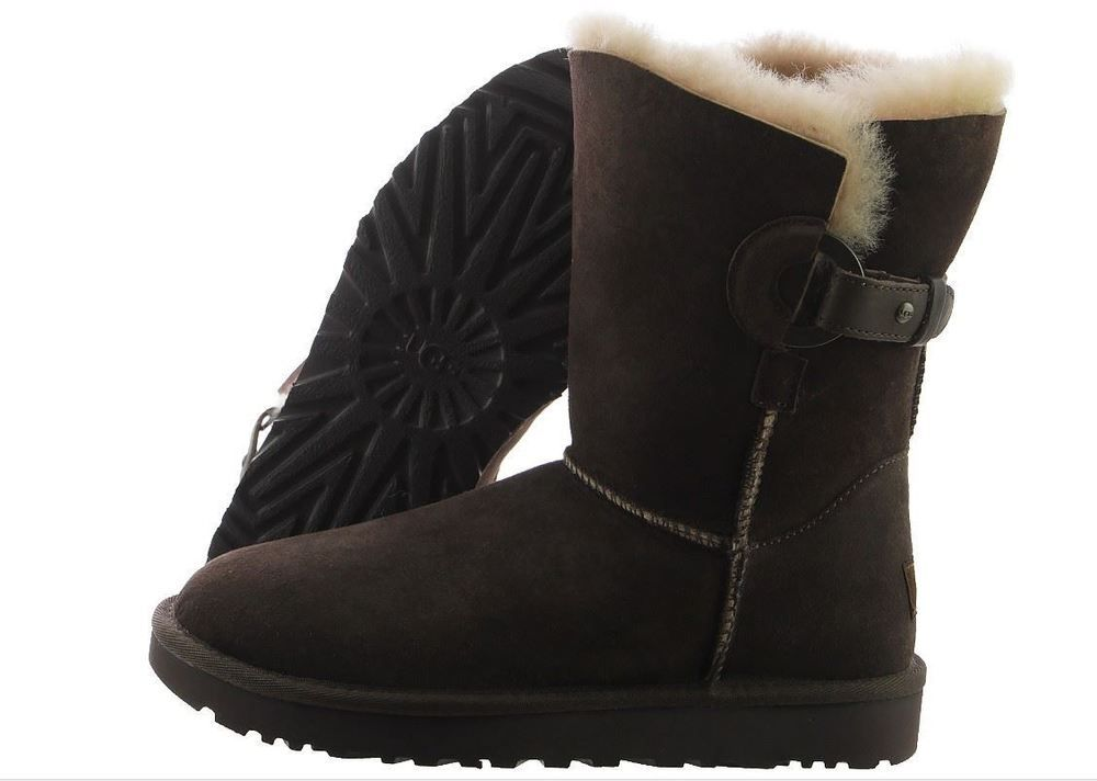 8d3de45e7d9 NIB UGG Australia Women's Nash Boot in Chocolate Brown Suede 1013491 ...