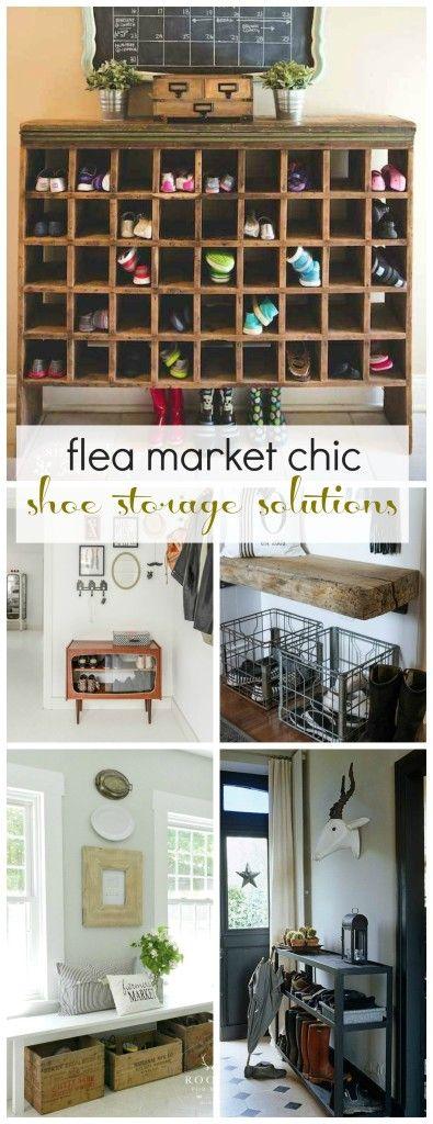 Flea Market Chic-Shoe Storage Solutions | City Farmhouse & Mudroom Shoe Storage Solutions | Pinterest | Shoe storage solutions ...