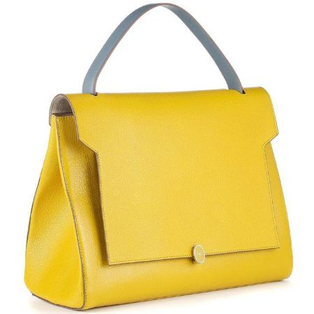 anya hindmarch-bathurst stachel-yellow handbag-mustard-discount ...