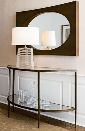 Clairemont Demilune Console Table Crate And Barrel Entry