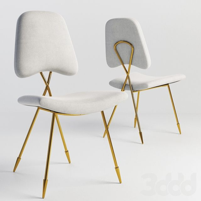 Jonathan Adler Maxime Dining Chair 3d Models Pinterest Dining