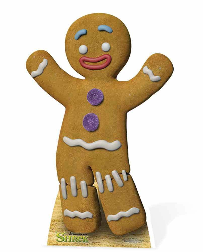 Gingy The Gingerbread Man From Shrek Lifesize Cardboard Cutout