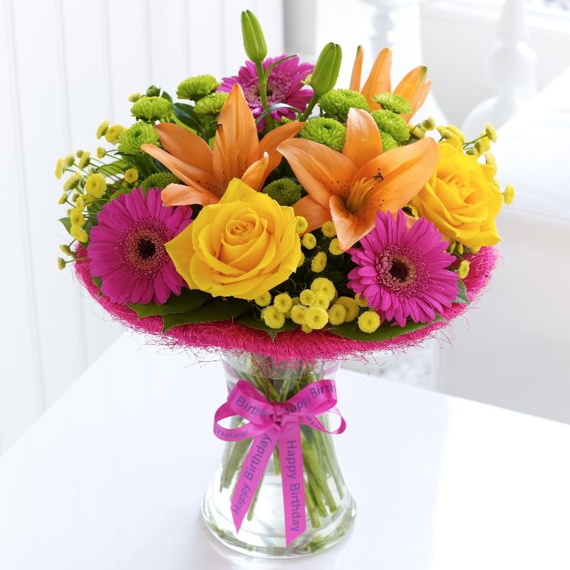 Large Happy Birthday Vibrant Perfect Gift. Battle House
