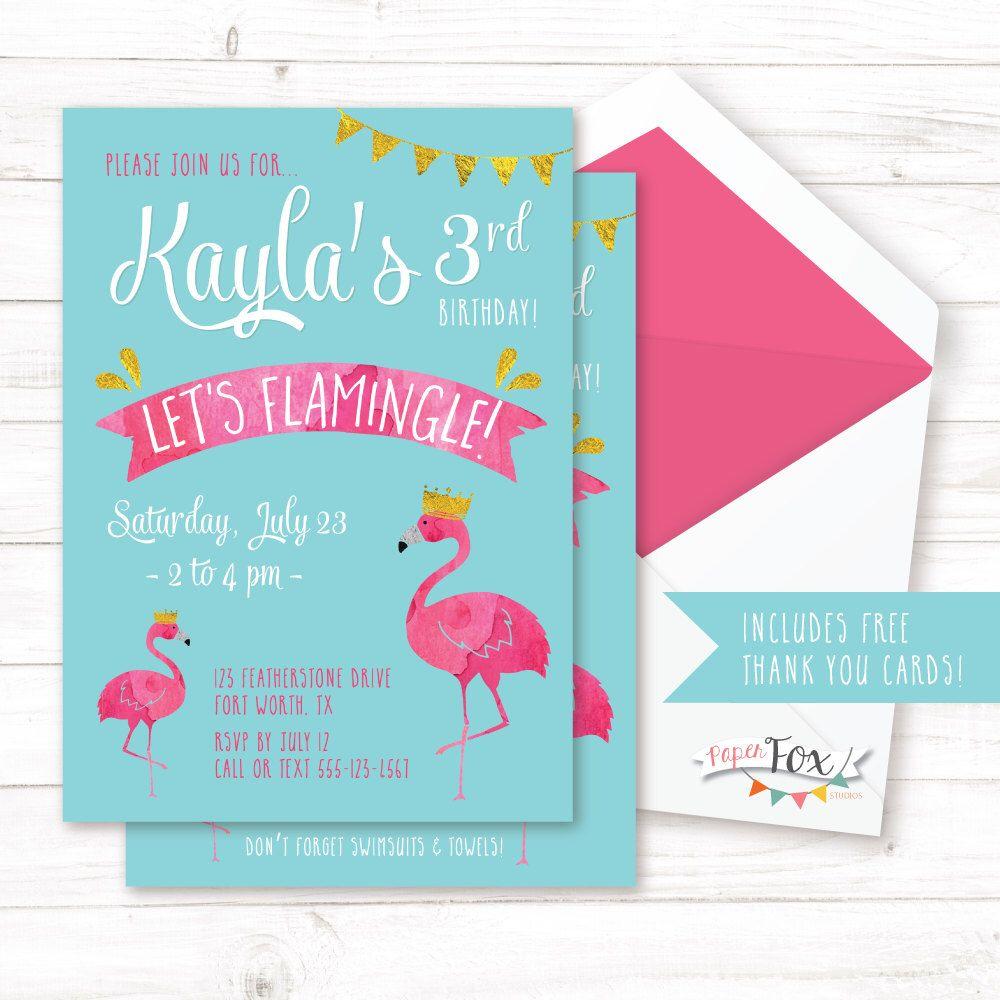 Flamingo birthday invitation flamingo party invitation lets flamingo birthday invitation flamingo party invitation lets flamingle pool party invitation pool birthday invitation printable stopboris Gallery