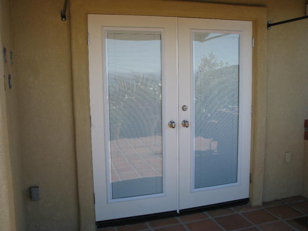 Image Of French Doors With Built In Blinds Prices Porch
