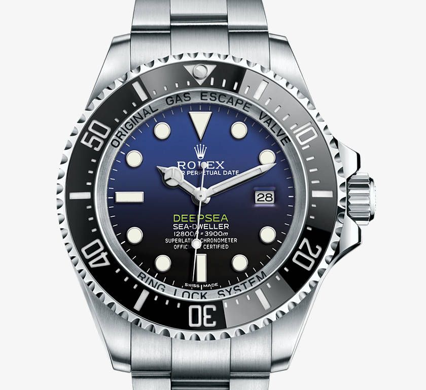 Rolex Deepsea mit Zifferblatt D-blue