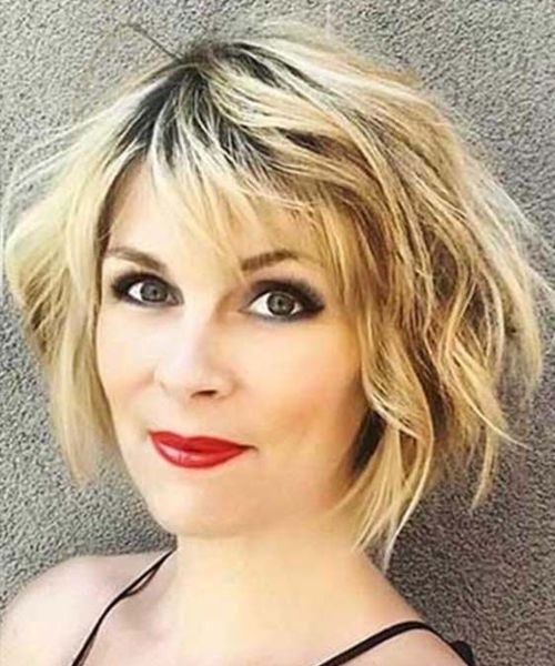 Excellent Short Messy Haircuts 2019 for Women Over 40