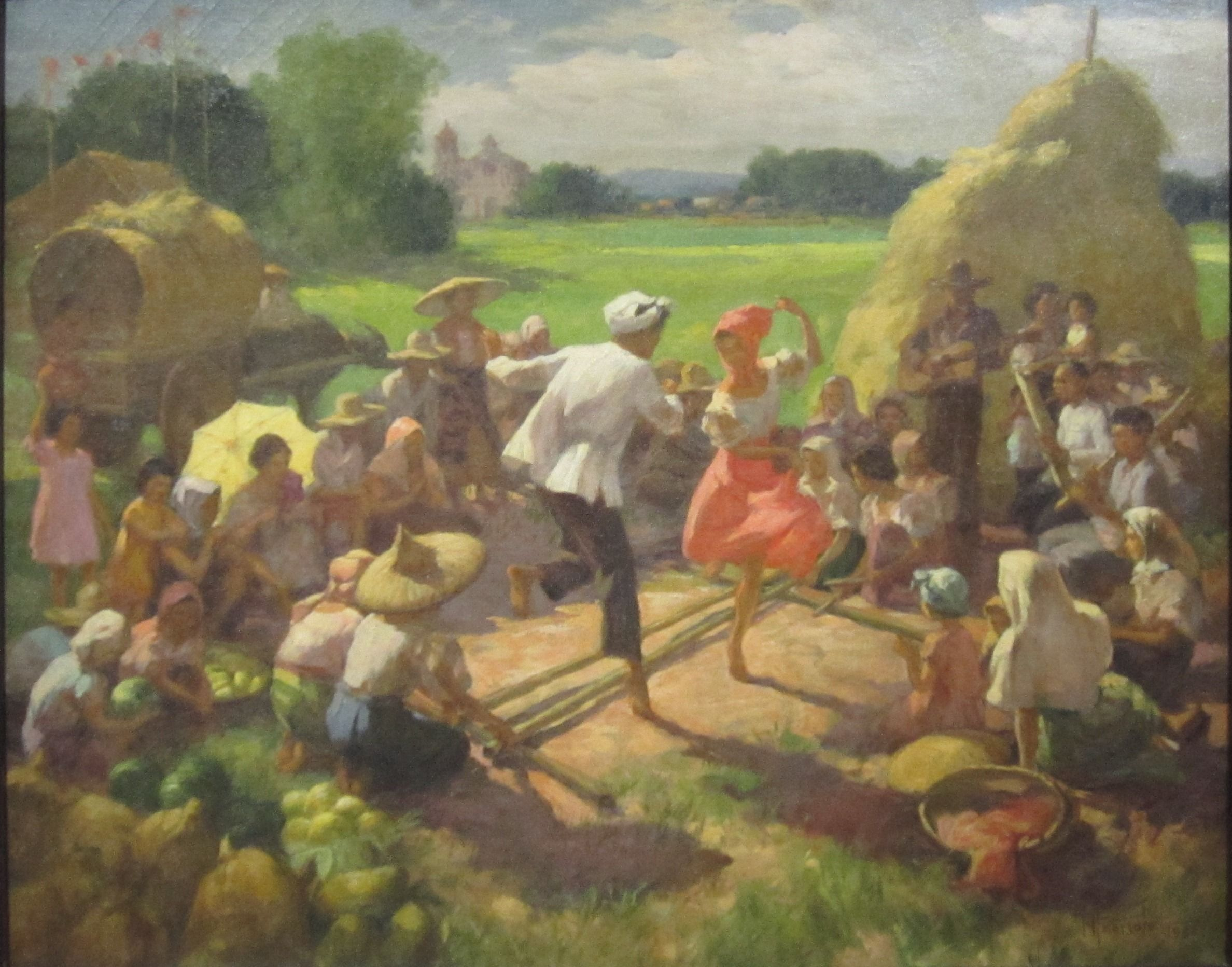 tinikling, traditional dance. | PLACE | Pinterest | Folk dance ... for Farm Philippines Painting  146hul